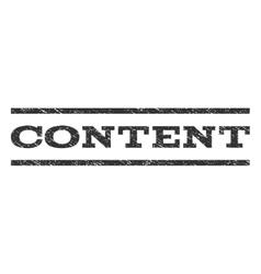 Content Watermark Stamp vector image
