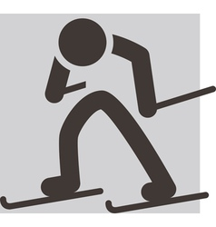 Cross country skiing icon vector image