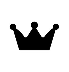 crown icon isolated vector image