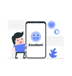 customer review rating vector image