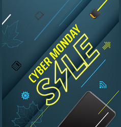 cyber monday sale special offer vector image