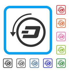 Dash revert payment framed icon vector