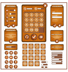 design game user interface vector image