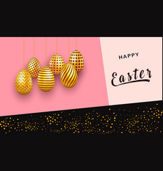 easter invitation card on abstract design with vector image