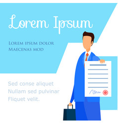 Employment labor lawyer advisor company poster vector