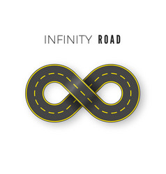 endless realistic road in shape infinity sign vector image