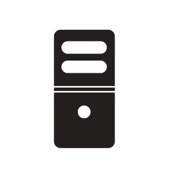 Flat icon in black and white style computer vector