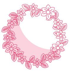 Floral wreath decorative icon vector