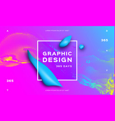 fluid cover design gradient futuristic abstract vector image
