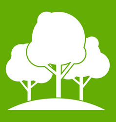 forest trees icon green vector image