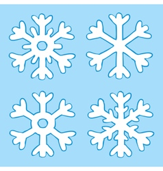 Four snowflakes vector