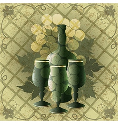 Goblets and wine vector image