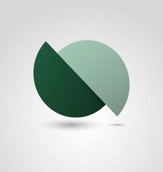 Green circle material design template vector