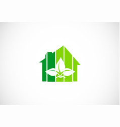green house organic logo vector image