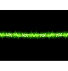 Green sound wave on white background EPS10 vector image