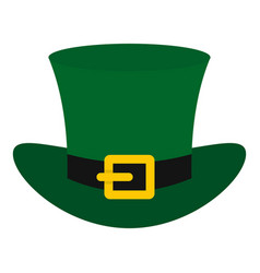 green top hat with buckle icon isolated vector image