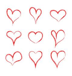 Heart hearth collection handmade hearts love vector
