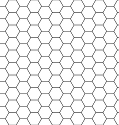 Hexagon background seamless comb vector image vector image