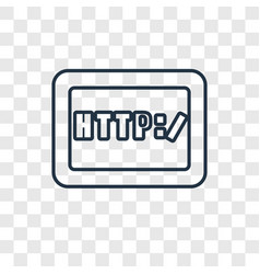 Http concept linear icon isolated on transparent vector