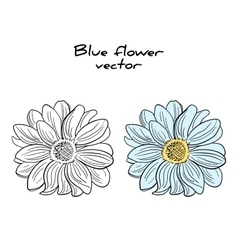 Isolated Blue Flower vector image