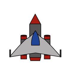 Isolated plane design vector