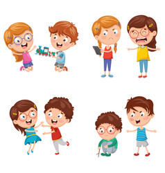Kids behaviours vector