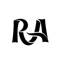 letter r and a monogram template simple style vector image