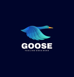 logo goose gradient colorful style vector image