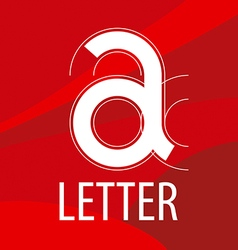 logo red letter A in the form of a drawing vector image