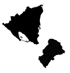Map nicaragua and managua country and capital vector
