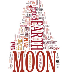 Moon fever text background word cloud concept vector