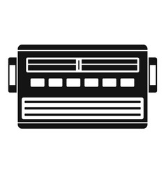 old radio icon simple style vector image