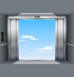 Open the elevator doors vector