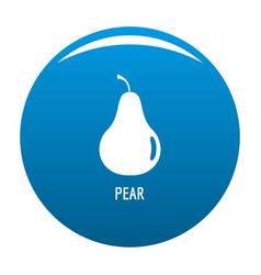 pear icon blue vector image
