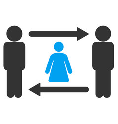 Persons woman exchange icon vector