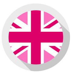 pink jack flag - lgbt pride community flag vector image