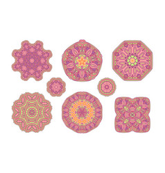 Pink ornate pattern vector