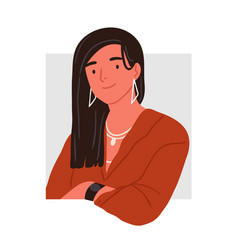 portrait fashionable young woman peeping from vector image