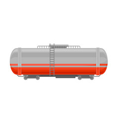 Rail cistern for liquid products flat vector