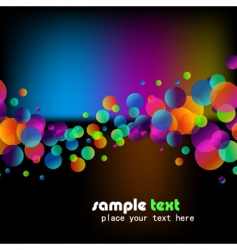 rainbow bubbles background vector image