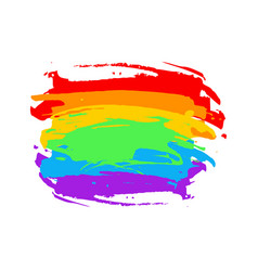 Rainbow colored abstract watercolor background vector
