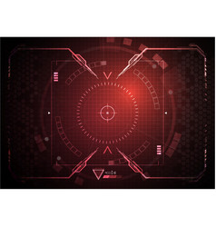 Red gaming interface data digital technology vector
