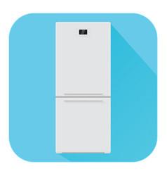 Refrigerator flat design blue icon vector