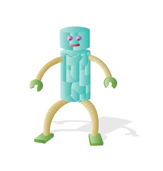 Robot 3d simple vector