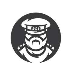 Russian policeman officer simple silhouette vector