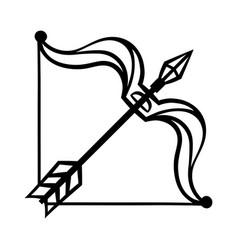 sagittarius zodiac sign black horoscope symbol vector image
