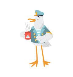Sailor seagull vector