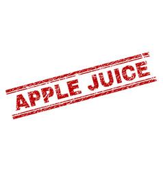 scratched textured apple juice stamp seal vector image