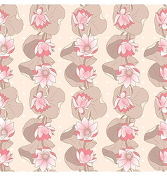 Seamless Floral pattern on a beige background with vector image