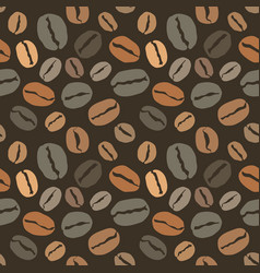 seamless pattern with coffee beans cover for your vector image